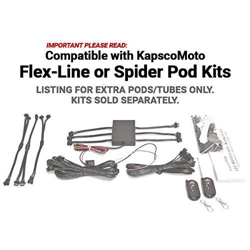Tube Only Expansion Flex Line Tube 5-Pack for KapscoMoto Flex-Line//Spider Pod LED Accent Light Kit