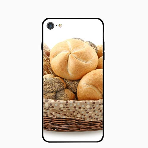 iPhone 7 Case,Personalized Batch Bread Rolls Basket Floral Print PC Cellphone Case