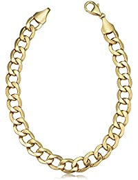 Men's 14k Yellow Gold Polished Cuban Link Bracelet (8.6 mm, 9 inch)