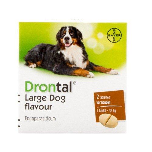 Drontal Large Dog Flavour 2 tablets (Drontal Dog)
