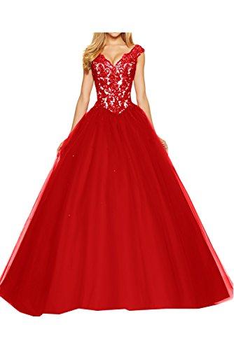 Toskana novia Vestidos de noche de mujer Mode con Bolero Corto Gasa Con Punta Cocktail Abi Ball novia Vestidos Rojo