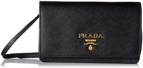 Prada Women's Saffiano Wallet 1bp007toonzvf0002, Black, One Size