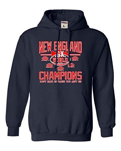 X-Large Navy Blue Adult New England World Champions Football Sweatshirt -