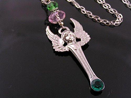 Crystal Set Angel Necklace