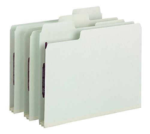 Smead SuperTab Pressboard Fastener Folder with SafeSHIELD Fasteners, 2 Fasteners, Oversized 1/3-Cut Tab, 2