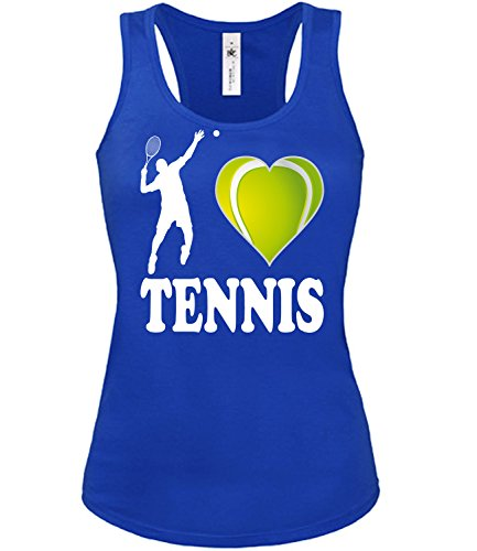 Sport - I Love Tennis - mujer camiseta Tamaño S to XXL varios colores S-XL Azul