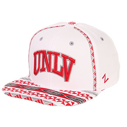 Zephyr NCAA UNLV Rebels Men's Pukalani Snapback Hat, Adjustable, White