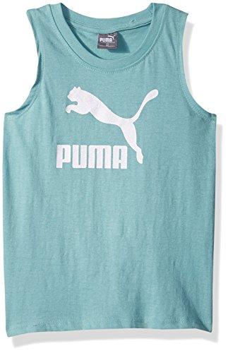 PUMA Little Girls' Archive Logo Tulip Back Tank, Aquifer, 4