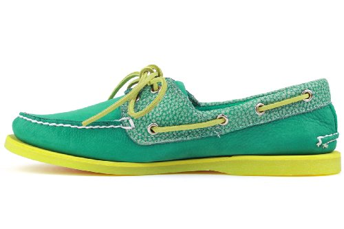 Timberland Mens Classic Two-Eyelet Rubber-Sole Boat Shoe Bosphorus Green/Green tNzoUB