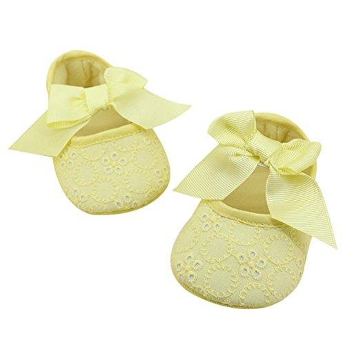 Transer ,  Baby, Jungen Baby Mädchen Unisex Babys Durchgängies Plateau Sandalen mit Keilabsatz Gelb