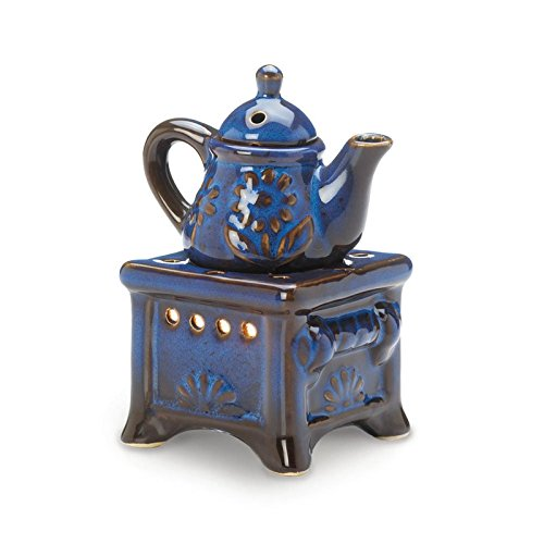 Gifts & Decor Country Kitchen Ceramic Kettle Stove Oven Oil Warmer by Gifts & Decor