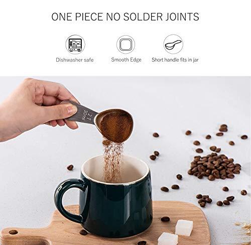 Coffee Scoop, Stainless Steel Coffee Scoop, Durable Coffee Measure Scoop for ground coffee, Coffee Brewing, Milk Brewing