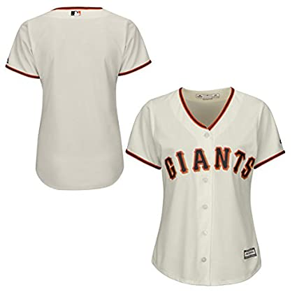 820ce6b35e5 Image Unavailable. Image not available for. Color  Majestic San Francisco  Giants MLB Women s Cool Base Home Jersey ...