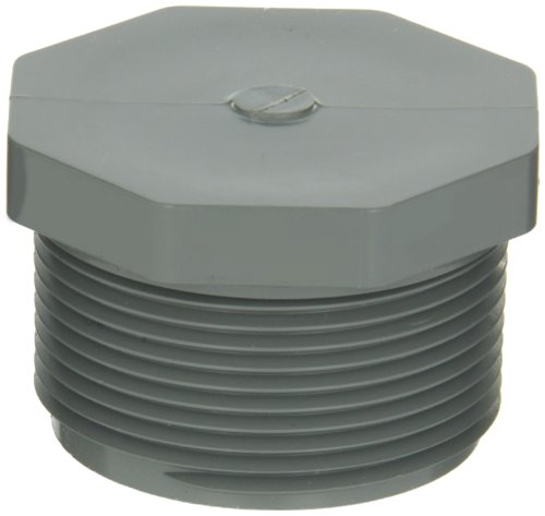 - GF Piping Systems CPVC Pipe Fitting, Plug, Schedule 80, Gray, 1-1/2