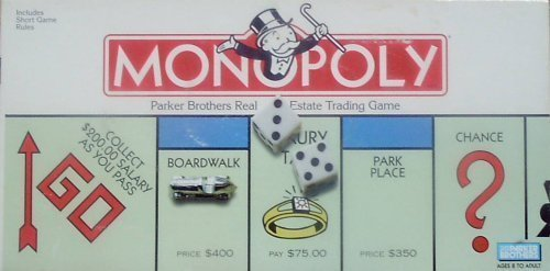 Monopoly; Parker Brothers Real Estate Trading Game from Parker Brothers