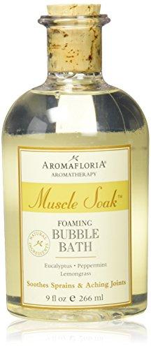 Aromafloria Aromatherapy Collection Muscle Soak Bubble Bath, Eucalyptus/Peppermint/Lemongrass, 9.0 Ounce - Bath Sore Muscles