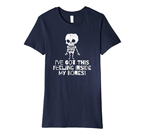 Womens Fitted Halloween 2017 Funny Skull Skeleton Bones Humor Shirt Medium (Halloween Humour 2017)