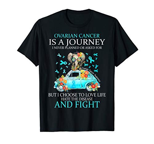 Ovarian Cancer Is A Journey Funny Ovarian Cancer Awareness T-Shirt