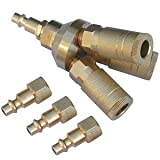 Anytime Tools 3-WAY UNIVERSAL QUICK CONNECT AIR TOOL / HOSE COUPLER / MANIFOLD