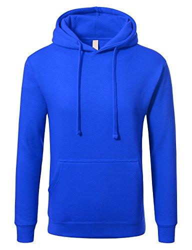 JD Apparel Men's Premium Heavyweight Pullover Hoodie Sweatshirt XL Royal blue (Hoodie Royal Blue)