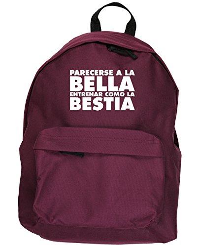 HippoWarehouse Parecerse a la Bella Entrenar Como la Bestia kit mochila Dimensiones: 31 x 42 x 21 cm Capacidad: 18 litros Granate