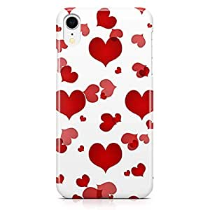 Loud Universe Case for iPhone XR Wrap Around Edges Valentines Day Couples Love Heart Pattern Durable Light Weight Vibrant Colors iiPhone XR Cover
