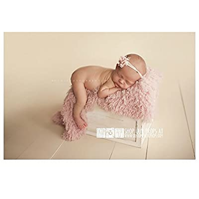 Hypoallergenic & Washable Peaceful Pink Basket StuFFeR Faux Fur Newborn Photo Props, Artificial Fur, Newborn Baby Photography Props, So SoFT - Baby Girl, Fabrics by Custom Photo Props