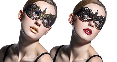 2/pcs,Chromatic Lace Masquerade Mask Set, Perfect for Halloween,Valentine's Carnivals, Masquerade, Mardis gras,Night Club,Costume Cosplay