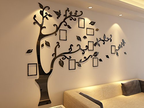 3d Picture Frames Tree Wall Murals for Living Room Bedroom Sofa Backdrop Tv Wall Background, Originality Stickers, Wall Decor Decal Sticker (70(H) x 98(W) inches) by DecorSmart (Image #4)