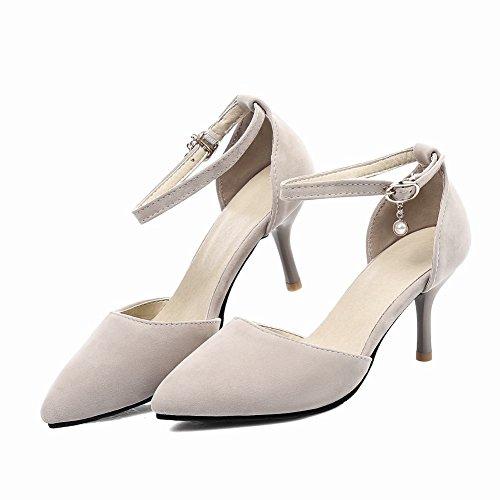 MissSaSa Damen Spitz High Heels Pumps/dateschuhe Beige