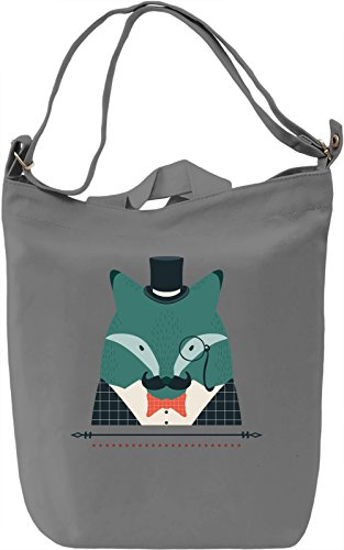 Classy blue animal Borsa Giornaliera Canvas Canvas Day Bag| 100% Premium Cotton Canvas| DTG Printing|