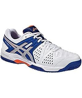 16cf1973738541 ASICS Men s Gel Dedicate 4 Clay Footwear-White Blue Orange Grey