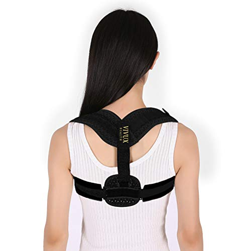 Posture Corrector for Women & Men   Back Support Brace for Upper Back & Neck Pain Relief   Back Straightener & Upright Trainer for Scoliosis & Spine Alignment   Under Clothes & Discreet   Soft Fabric