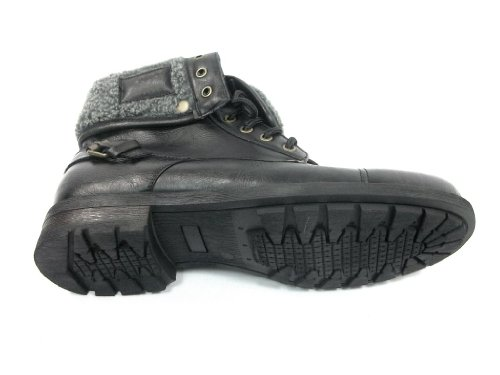 Fur Mens Over Lined Tall Black Winter Fold Faux 506015 Boots BqxEwqgF