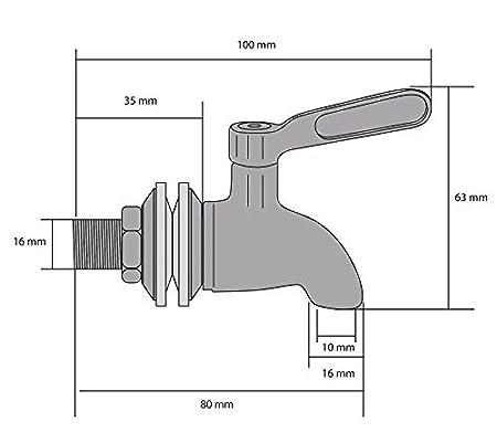 Sheny 304 Dispensador de bebidas de acero inoxidable Spigot Replacement Juice Cold Drink Cerveza Wine Barrel Faucet (Type1): Amazon.es: Bricolaje y ...