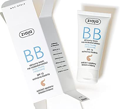 Ziaja BB Crema Facial para piel grasa y mixtas SPF 15 – curtido de sombra –