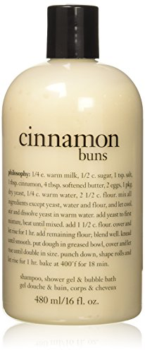 Philosophy Cinnamon Buns Shampoo, Shower Gel and Bubble Bath, 480 ml/16 oz.