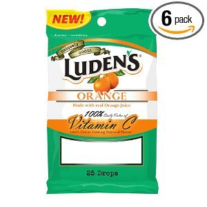 Ludens Cough Drops, Vitamin C, 25