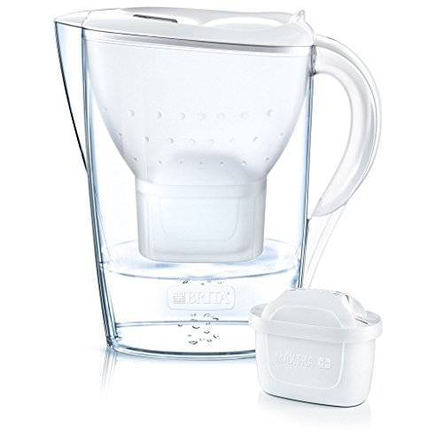 BRITA Marella Cool Water Filter Jug 2.4 liters and 12 Cartridges Annual Pack, White by Brita