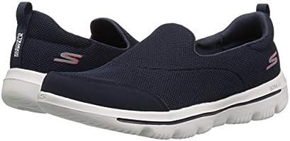 Skechers Women's GO Walk 5 Trainers, Blue (Navy TextileWhite NVW), 6 (39 EU)