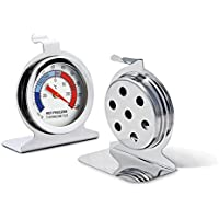 WellBridal Refrigerator Thermometers Classic Series Large Dial Thermometer (2 Pack,Freezer/Refrigerator)