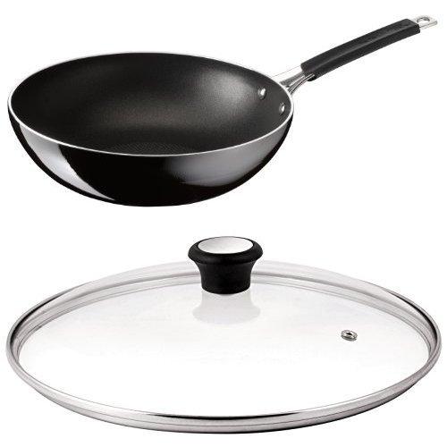 Black Tefal Jamie Oliver Non-stick Wok Pan Hard Enamel  28 cm
