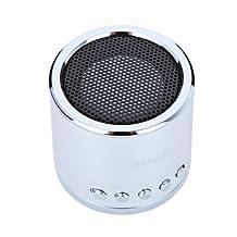 Kingzer Mini enceinte Lecteur MP3/Micro SD/TF AMPLIFICATEUR SON Audio-Argent