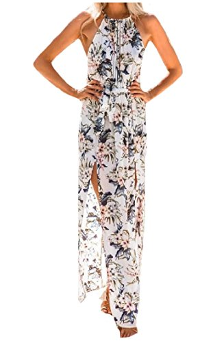 Coolred Split Dresses Sexy As1 Casual Sleeveless Holiday Commute Women Floral Summer Beachwear High Printed IqIw7Zr
