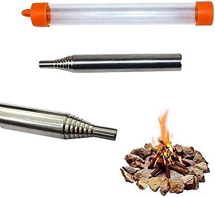 LIOOBO Fire Tube Plegable Fire Blower Pocket Camping Fire Tool Supervivencia Accesorios de Cocina