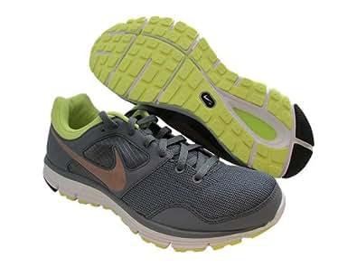 Nike LUNARFLY+ 4 Womens Running Shoes Cool Grey/Metallic RedBronze/Yellow SZ 9.5