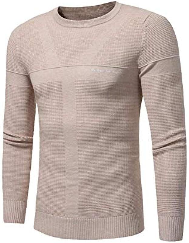 Męski sweter z dzianiny okrągły dekolt długie rękawy jesień topy wiosna sweter prosty styl sweter z dzianiny: Odzież
