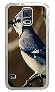 thin Samsung Galaxy S5 covers Blue Jay 3 Animal PC Transparent Custom Samsung Galaxy S5 Case Cover