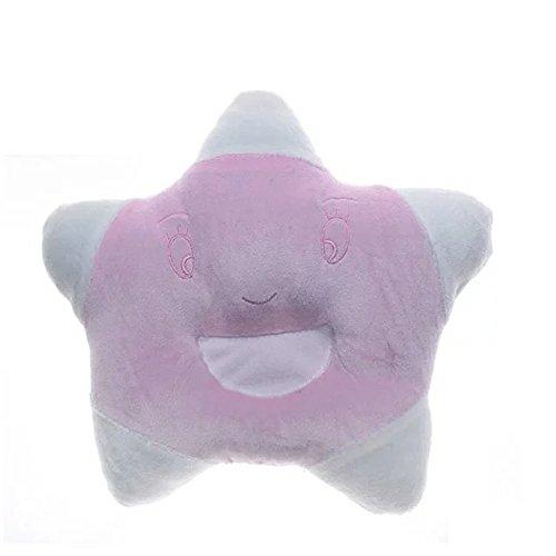 Lovely&Cute Infant Pillow Velvet Pillow baby Correct Position Pillow Star Pillow Baby Newborn Infant Toddler Sleeping Support Pillow Prevent Flat Head Flathead