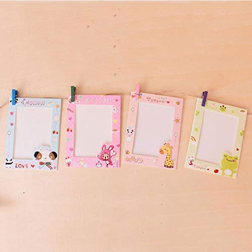Amazon.com - GOP Store 9pcs/Set Cartoon Paper Vintage Photo Frame Paper Photo Frames Hang On The Wall Picture Frame Baby Handprint Picture Show -